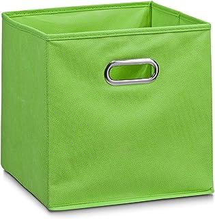 Zeller 14134 Boite de rangement en tissu, vert, 28 x 28 x 28 cm