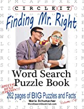 Circle It, Finding Mr. Right, Large Print, Word Search, Puzzle Book
