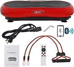 ZENY Fitness Vibration Massage Machine Vibration Massager Whole Full Body Shape Exercise Machine,Vibration Plate Platform,Fit Massage Workout Trainer with Two Bands & Remote