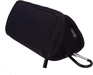 COSMOS Black Neoprene Utility Storage Case Pouch Bag Pen Holder Zipper Travel Carry Bag