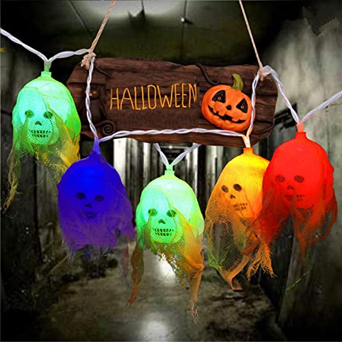 wholesale Twinkle Star Halloween Decorations Skeleton Skull discount String Lights, Spooky Colorful Light 10FT 20 LEDs Battery Operated for Halloween Indoor Outdoor high quality Decoration, Multicolor online