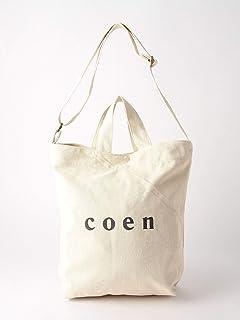 (コーエン) COEN 【WEB限定カラー:シルバー】coen2WAYロゴトートバッグ 76816027007