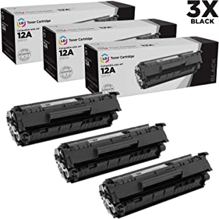 LD Compatible Toner Cartridge Replacement for HP 12A Q2612A (Black, 3-Pack)