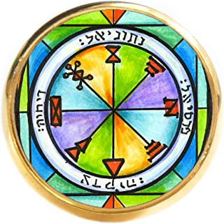 Solomons 1st Seal of Jupiter for Business Success Gold Adjustable Ring