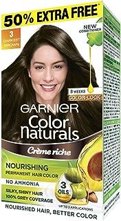 Garnier Color Naturals Mini Shade 3 Darkest Brown, 35ml + 30g