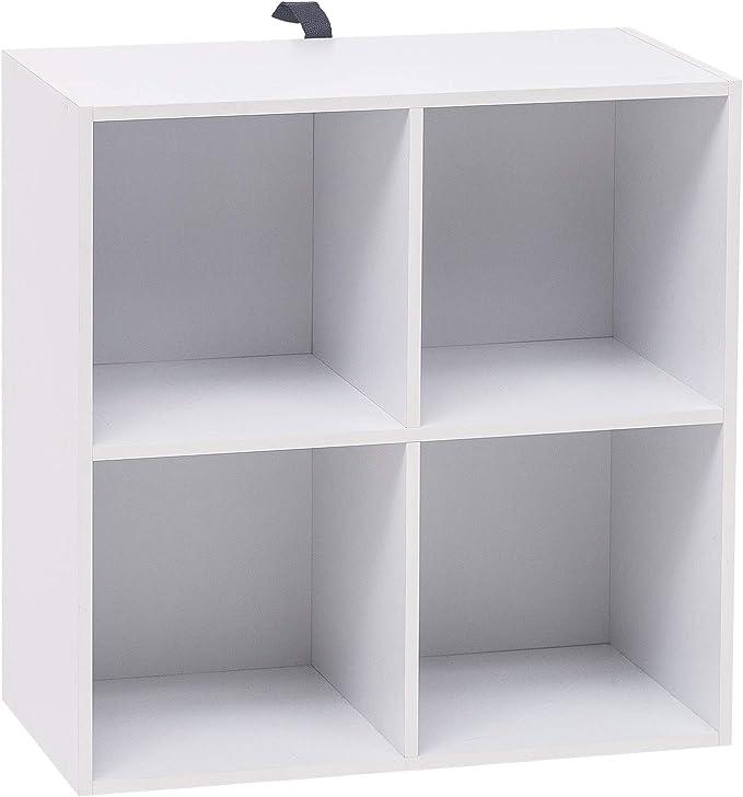 383 opinioni per WOLTU SK002ws2 Libreria Bianca Mensola di Legno a 4 Cubi Scaffale da Esposizione