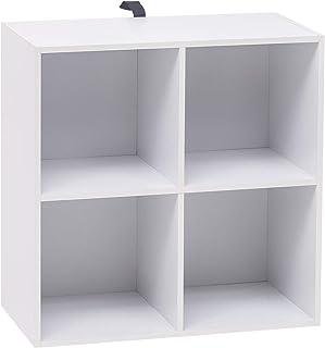 WOLTU Bibliothèque Armoire Etagère de Rangement 60x30x60cm en MDF pour Salon 4 Cubes Compartiments,SK002ws2