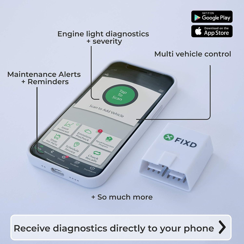 FIXD 723120297371 OBD-II Active Car Health Monitor