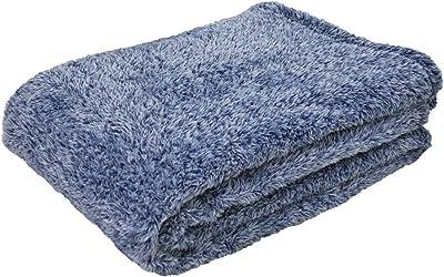 毛布 シングル 暖か 吸湿発熱 洗える 140×200cm 21-QH-1420 (ネイビー)