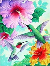 Spring Hummingbirds Hibiscus Flowers Summer Welcome Double Sided Garden Yard Flag 12
