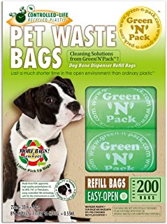 Green Pack Dog Waste Compact Re closable