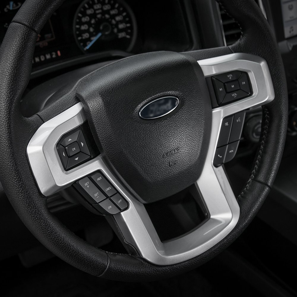 Silver Car ABS Dashboard Trim for 2015 2016 2017 2018 Ford F150 F250 F350