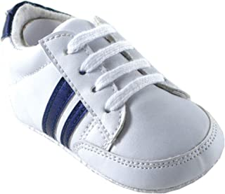 Luvable Friends Basic Stripe Casual Sneaker (Infant)