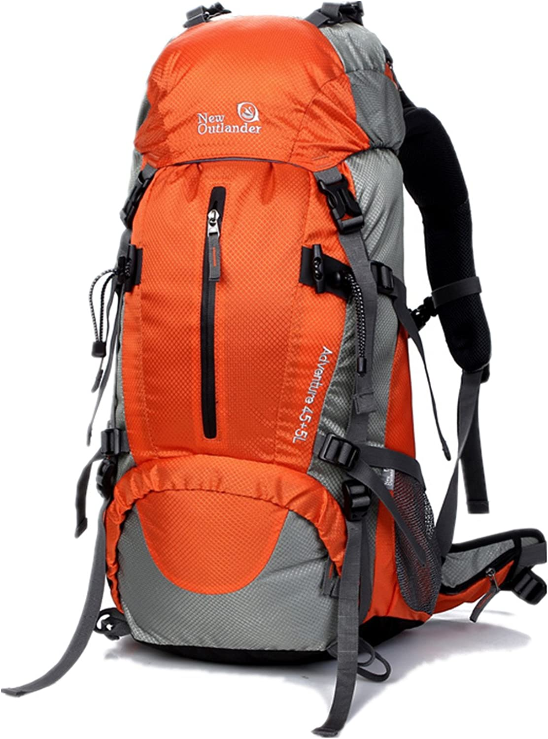 UNISTRENGH 50L(45+5) Hiking Backpack Waterproof Internal Frame Backpacking Bag Outdoor Sport Daypack with Rain Cover for Climbing Mountaineering Camping Fishing