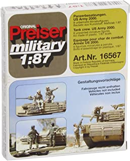 Unpainted US Army Tank Crew 2000 (8) (Kit) HO Scale Preiser Models