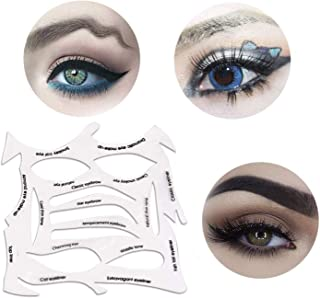 Universal makeup template for eyeliner, eyebrows, eye shadow. A makeup tool with a variety of shapes.