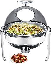 XBSXP Chafing Dish, Chauffe-Plats pour fêtes et buffets, serveurs de Buffet Rond et Chauffe-Plats pour Garder Les Aliments...