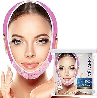 Sponsored Ad - VELAMO Reusable V Line Mask Facial Slimming Strap, Double Chin Reducer, Chin Up Mask, Face Lifting Belt, V ...
