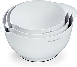 KitchenAid 凯膳怡 经典搅拌碗,白色,3件套