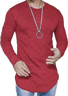 Mens Long Sleeve Hipster Hip Hop Basic Henley T Shirt for Men