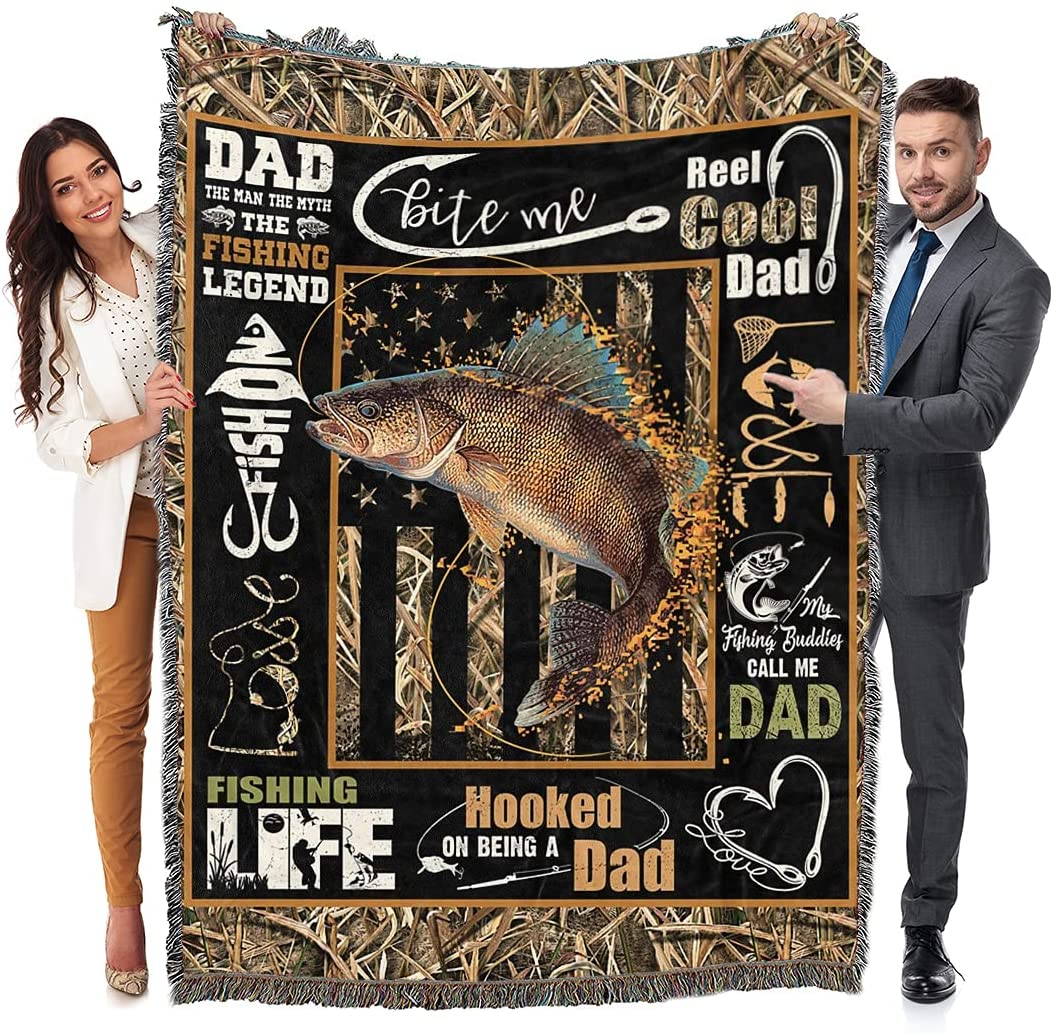 Maylian to My dad Fishing Love Blanket Max 56% OFF -Blanket Man Bombing free shipping T Fish Woven