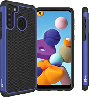CoverON Grip Cover Phone Case Designed for Samsung Galaxy A21 Blue A72-CO-SAA21-HY5-BL