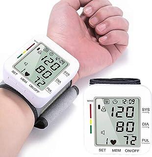 summersummer Monitor de Tensión Arterial, Monitor de presión Inteligente muñeca hogar automático Tipo Electrónico Sangre con la presión Arterial y el Pulso 2 * 90 Modo de Memoria