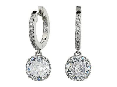 Kate Spade New York That Sparkle Pave Huggies Earrings (Clear/Silver) Earring