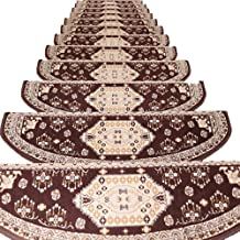 JIAJUAN Stair Carpet Treads Self-Sticking Non-Slip Stairs Rugs Step Pads Protector, 5 Styles, 4 Sizes, Customize (Color : ...