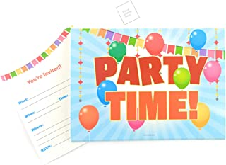 Party Invitations Cards 25 Pieces - Fill in Party Invitations for Children, Kids, Teens & Adults, Summer Time Birthday Cookout Invitation Cards, Boys & Girls, Family Reunion BBQ Invites