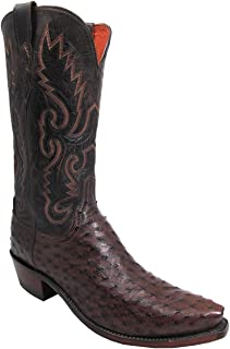 N1132.R4 Men's Handcrafted 1883 Full Quill Ostrich Boot
