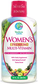 Women's Premium Liquid Multivitamin, Superfood, Herbal Blend - Anti-Aging Liquid Multivitamin for Women. 10...