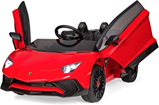 Best Choice Products Kids 12V Ride On Electric Lamborghini w/ 2 Speeds, LED Lights/Sounds, Red