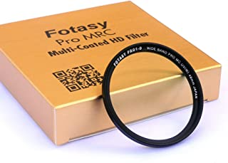 Fotasy 49mm Ultra Slim UV Protection Photography Filter, Nano Coatings MRC Multi Resistant Coating Oil Water Scratch, 16 Layers Multi-coated 49mm UV Filter