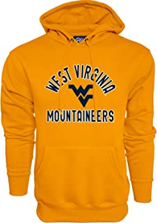 NCAA West Virginia Mountaineers Mens Hoodie Line Up Secondary Color, West Virginia Mountaineers Gold, Large