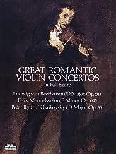 Great Romantic Violin Concertos in Full Score (Dover Music Scores)