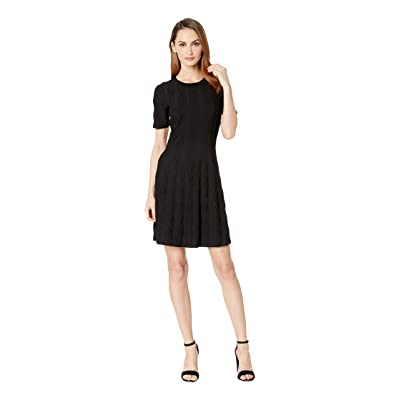 CATHERINE Catherine Malandrino Short Sleeve Sweater Dress (Black) Women
