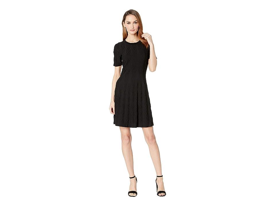 CATHERINE Catherine Malandrino Short Sleeve Sweater Dress (Black) Women