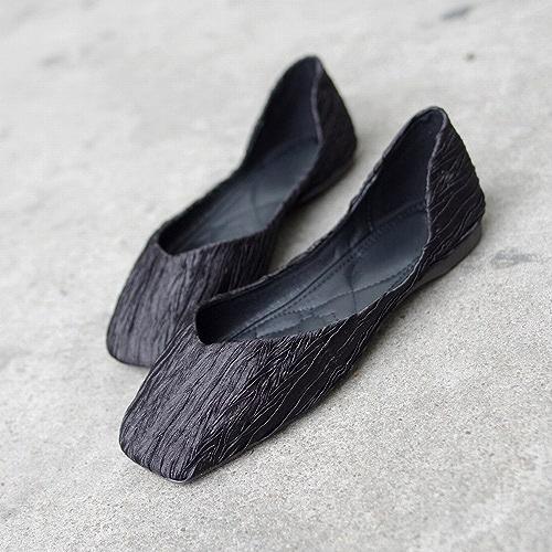 DHG Chaussures Décontractées Bouche Peu Profonde Carré Doux Ballet Sauvage Sauvage Chaussures Paresseuses,Noir,38