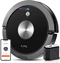 ILIFE A9 Robot Vacuum Cleaner, Wi-Fi Connected Mapping and Navigation, Sustained Strong Suction, Self-Adjustable Roller Br...