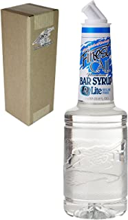 Finest Call Premium Bar / Sugar Syrup Mix LITE, 1 Liter Bottle (33.8 Fl Oz), Individually Boxed
