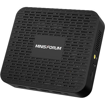 MINIS FORUM Mini PC 8GB LPDDR4 SSD 256GB Procesador Intel Celeron J4125 Quad Core (hasta 2.7GHz) Mini computadora con 4X Puertos USB 3.0 2X Gigabit Ethernet 4K HDMI/DP Port Wi-Fi de Doble Banda BT 5.0