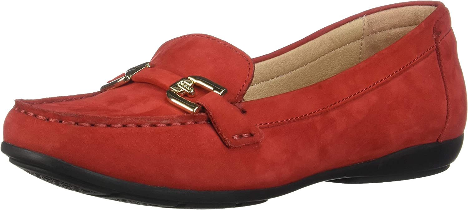 Geox Women's Annytah Classic Nubuck Driving Moccasin shoes