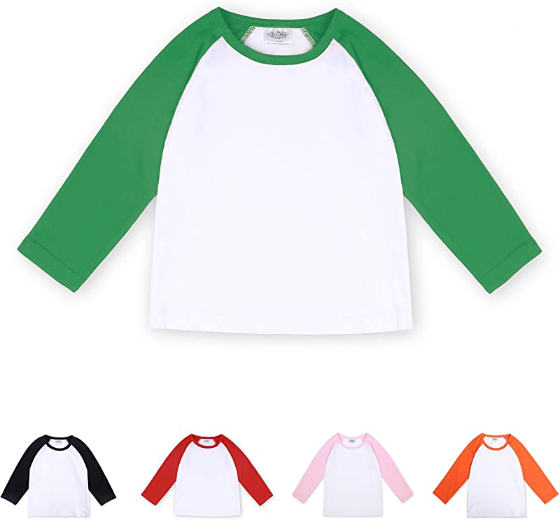 CREATOR Toddler Baby Girls Boys Long Sleeve Shirts Raglan Shirt Baseball Tee Cotton T Shirt