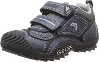Geox J Savage Low Top Sneaker Shoe - Boys Navy/Grey
