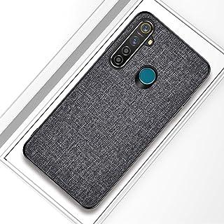 OPPO REALME 5 PRO耐衝撃布テクスチャPC + TPU保護ケース(ブラック) WZY (Color : Grey)