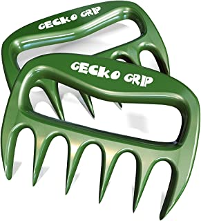 Gecko Grip Salad and Meat Paws and Claws Easily Pick Up and Transfer Whole Turkeys, Chickens and Roasts! Mix Salads and Other Greens! Use in the Kitchen on Picnics and Family Cookouts! (Green)
