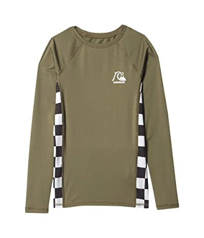 Quiksilver Kids Check This Long Sleeve Rashguard (Big Kids) (Kalamata) Boy