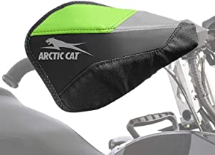 Arctic Cat New OEM Black & Green Rox Flex-Tec Hand Guards & Mounts, 7639-886