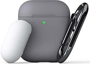 KeyBudz - PodSkinz Switch AirPods Case with Carabiner Compatible with Apple Airpods 1 & AirPods 2 - Earl Grey
